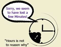 Sorry, not only are we missing a few sets of Minutes, but we're also suffering a sense of humour failure!